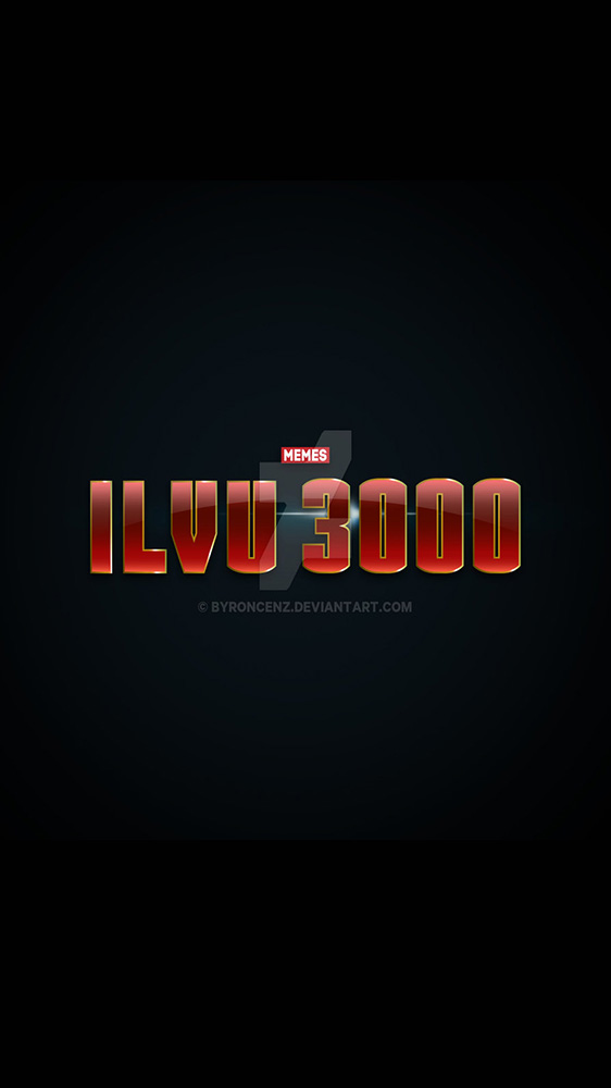 I Luv You 3000 iPhone Wallpaper