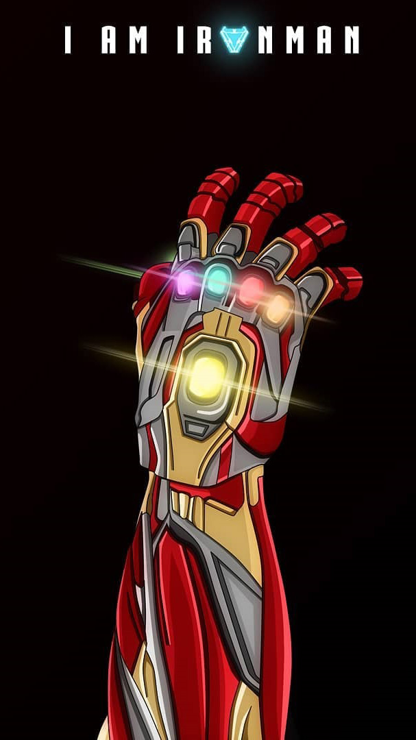 I am Iron Man Infinity Stones iPhone Wallpaper