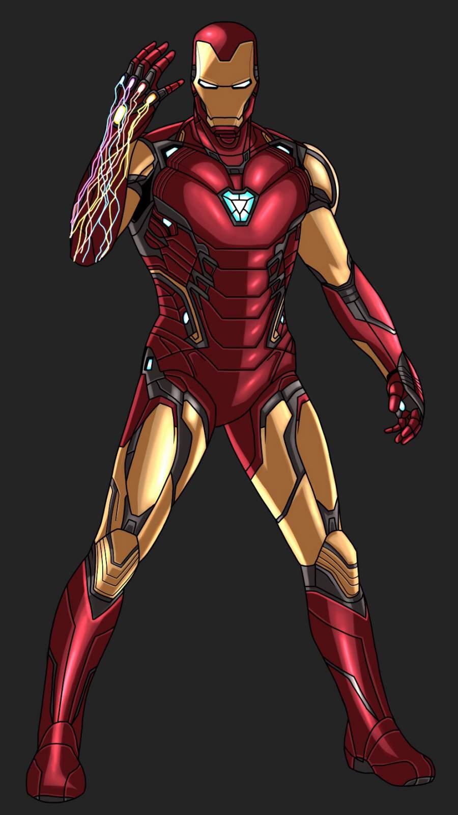 I am Iron Man Snap Animated Art iPhone Wallpaper