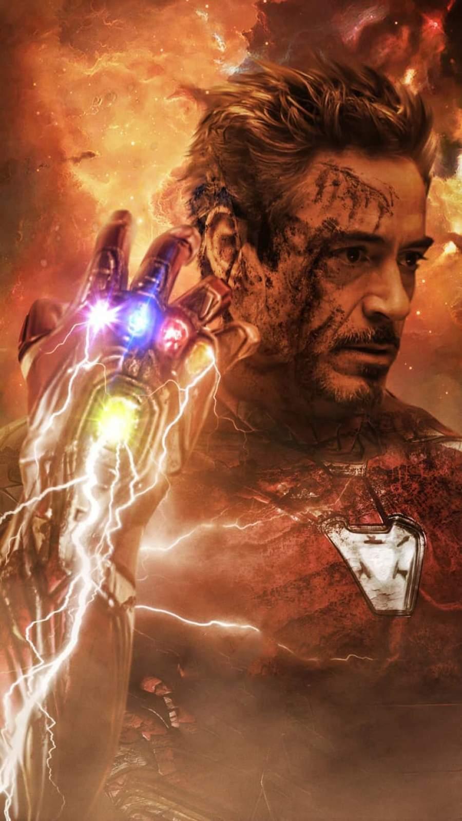 I am Iron Man Snap iPhone Wallpaper