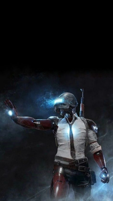 IRON MAN PUBG iPhone Wallpaper
