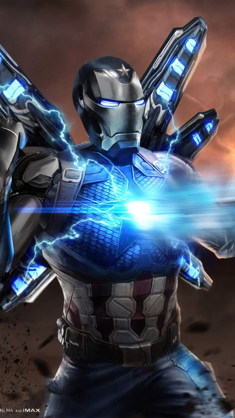 Iron Captain America Suit iPhone Wallpaper