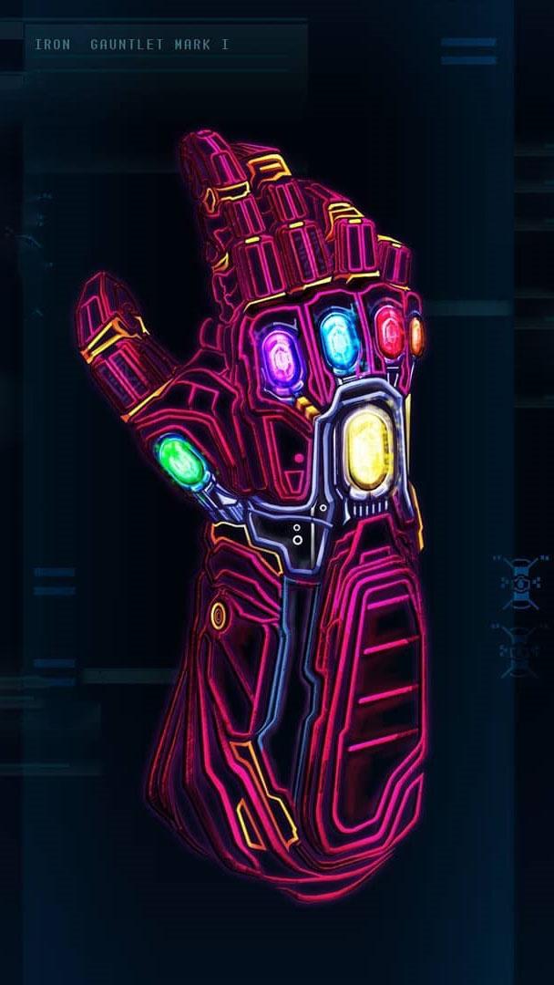 Iron Gauntlet Mark 1 Neon iPhone Wallpaper