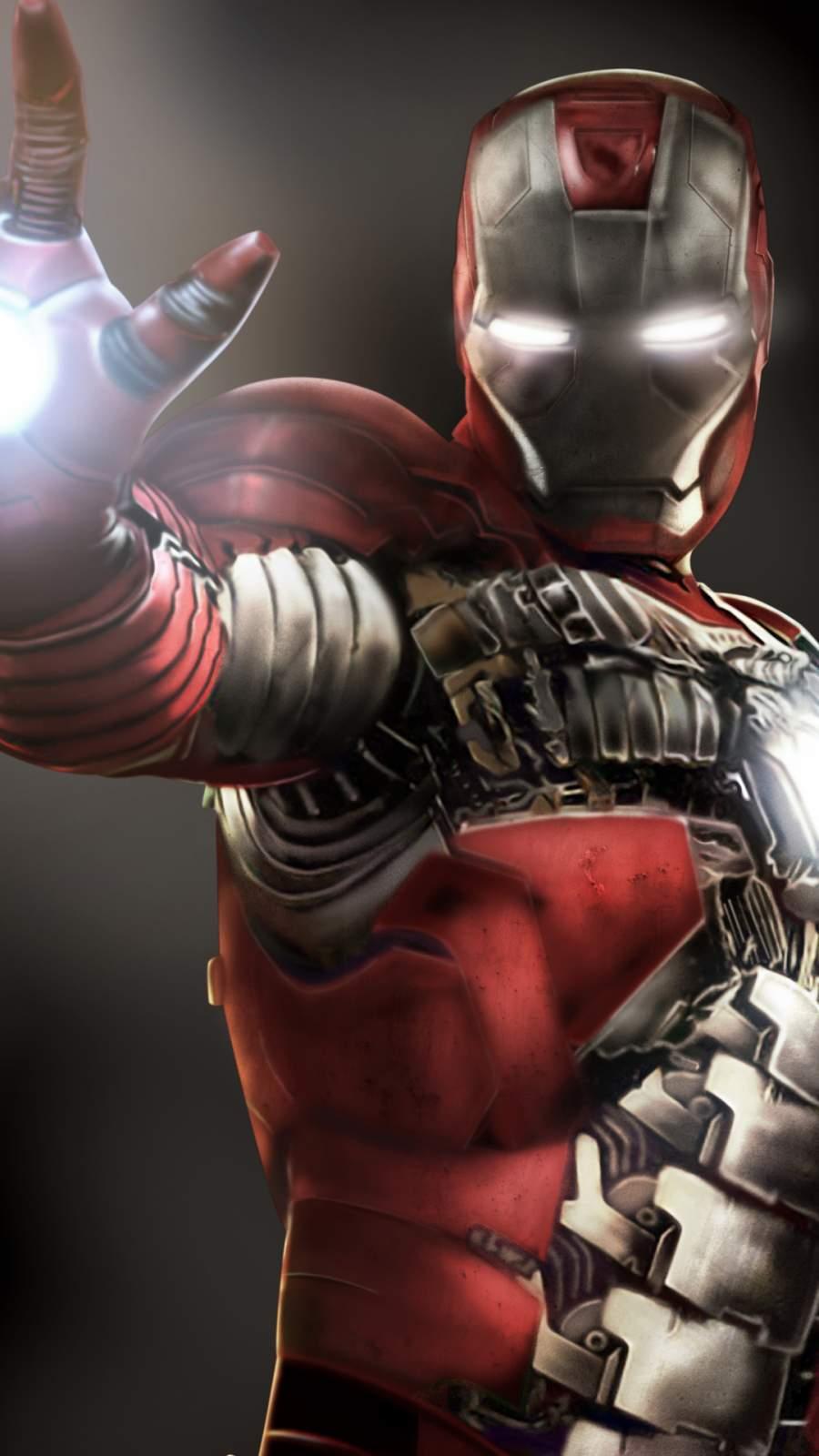 Iron Man Aim Firing iPhone Wallpaper