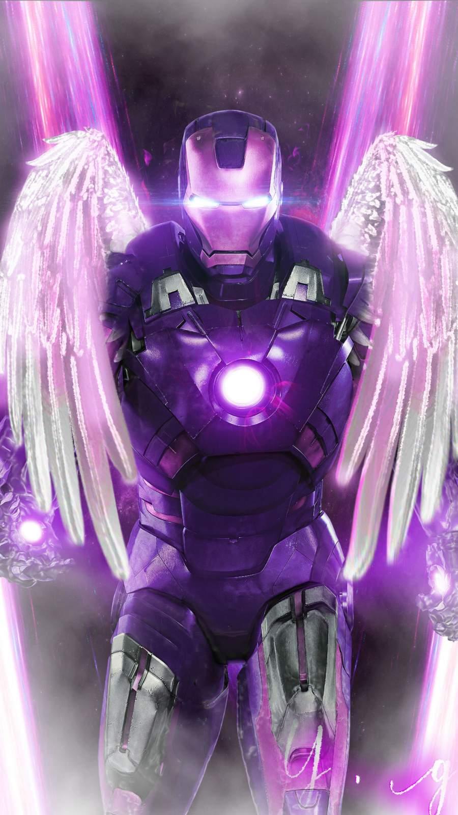 Iron Man Angel iPhone Wallpaper
