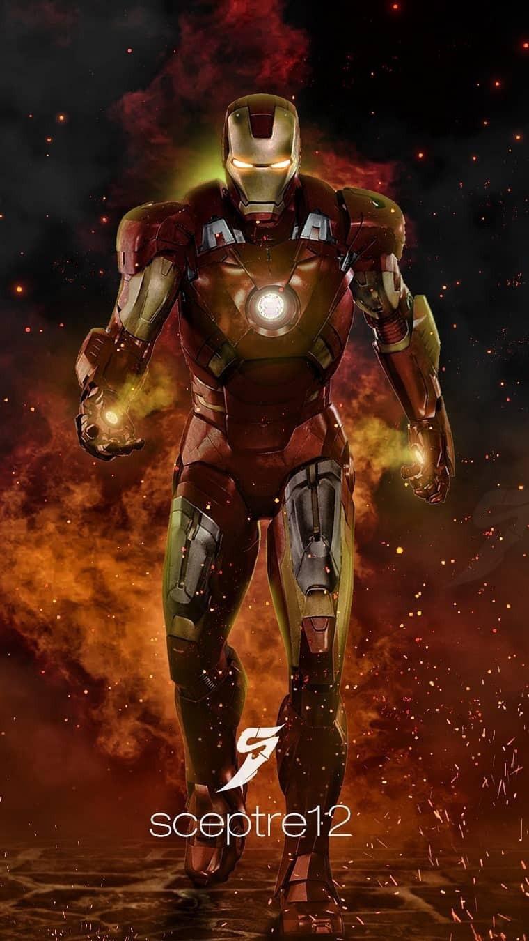 Iron Man Armor Mark III iPhone Wallpaper