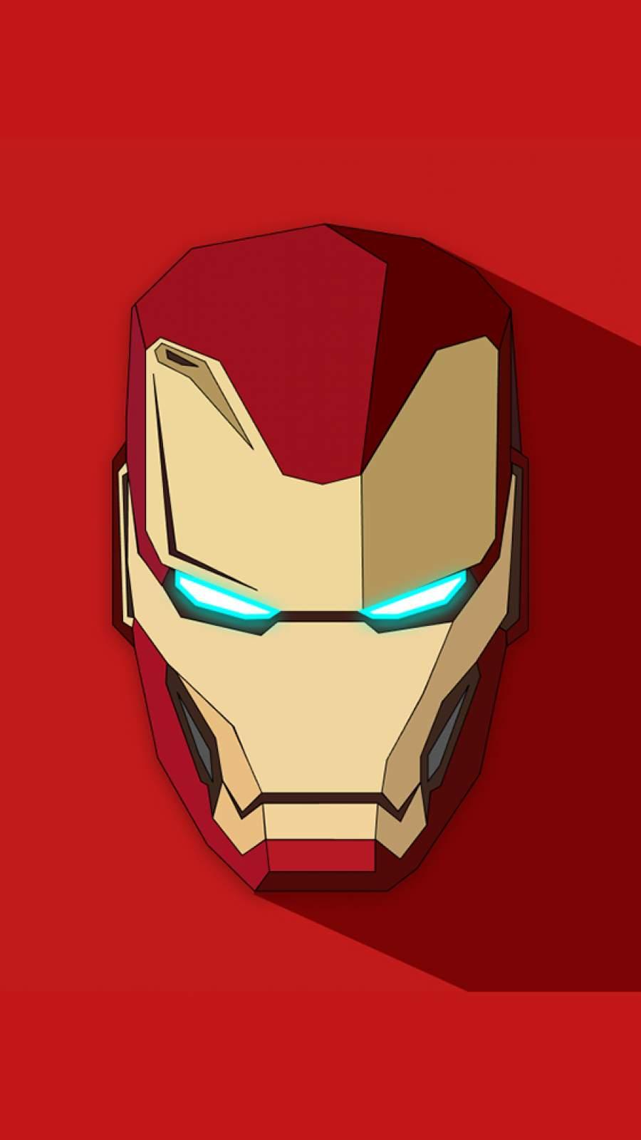Iron Man Armor Mask iPhone Wallpaper