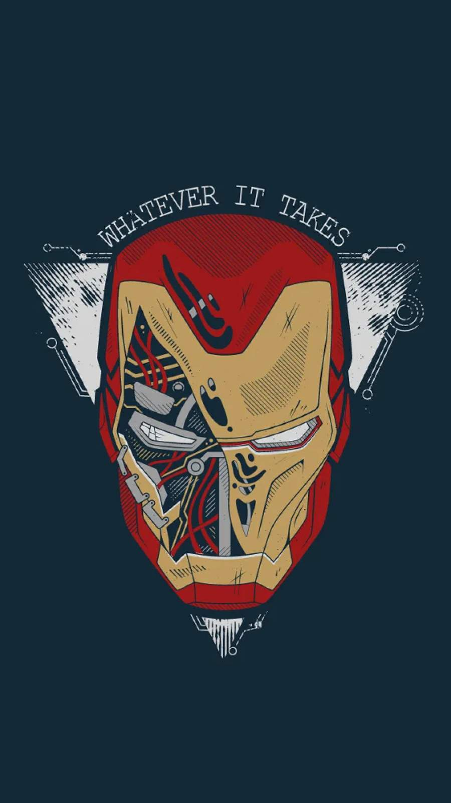 Iron Man Armor Whatever it Takes iPhone Wallpaper