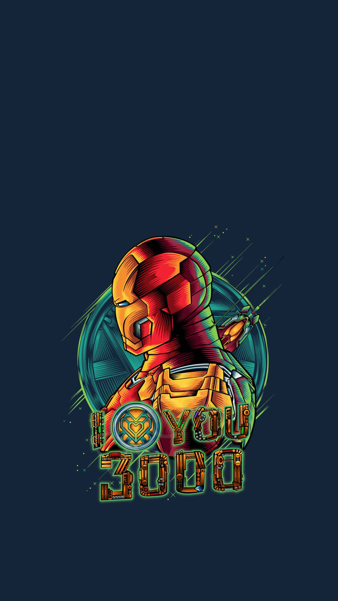 Iron Man Art I Love You 3000 iPhone Wallpaper