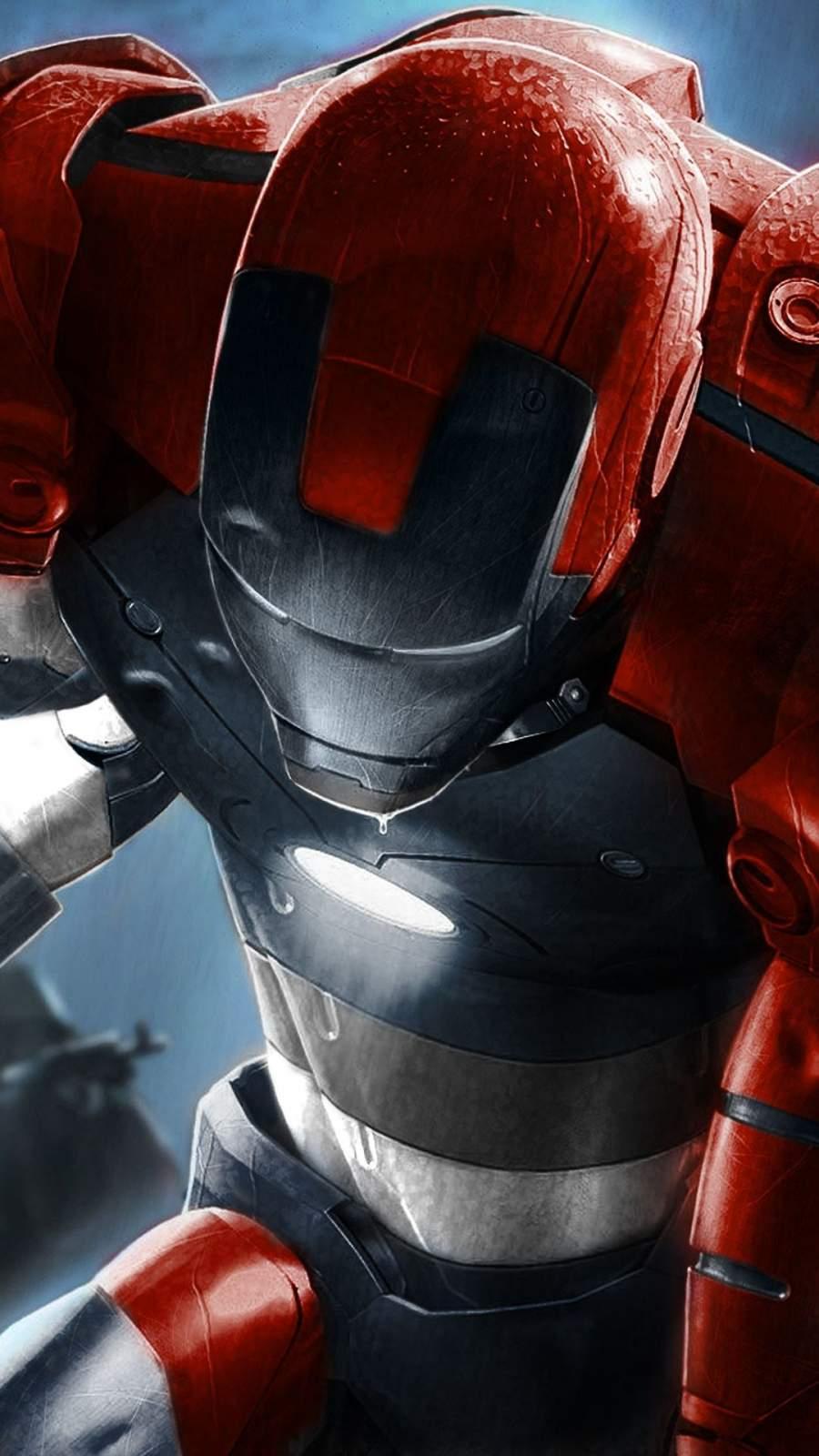 Iron Man Comic Art iPhone Wallpaper