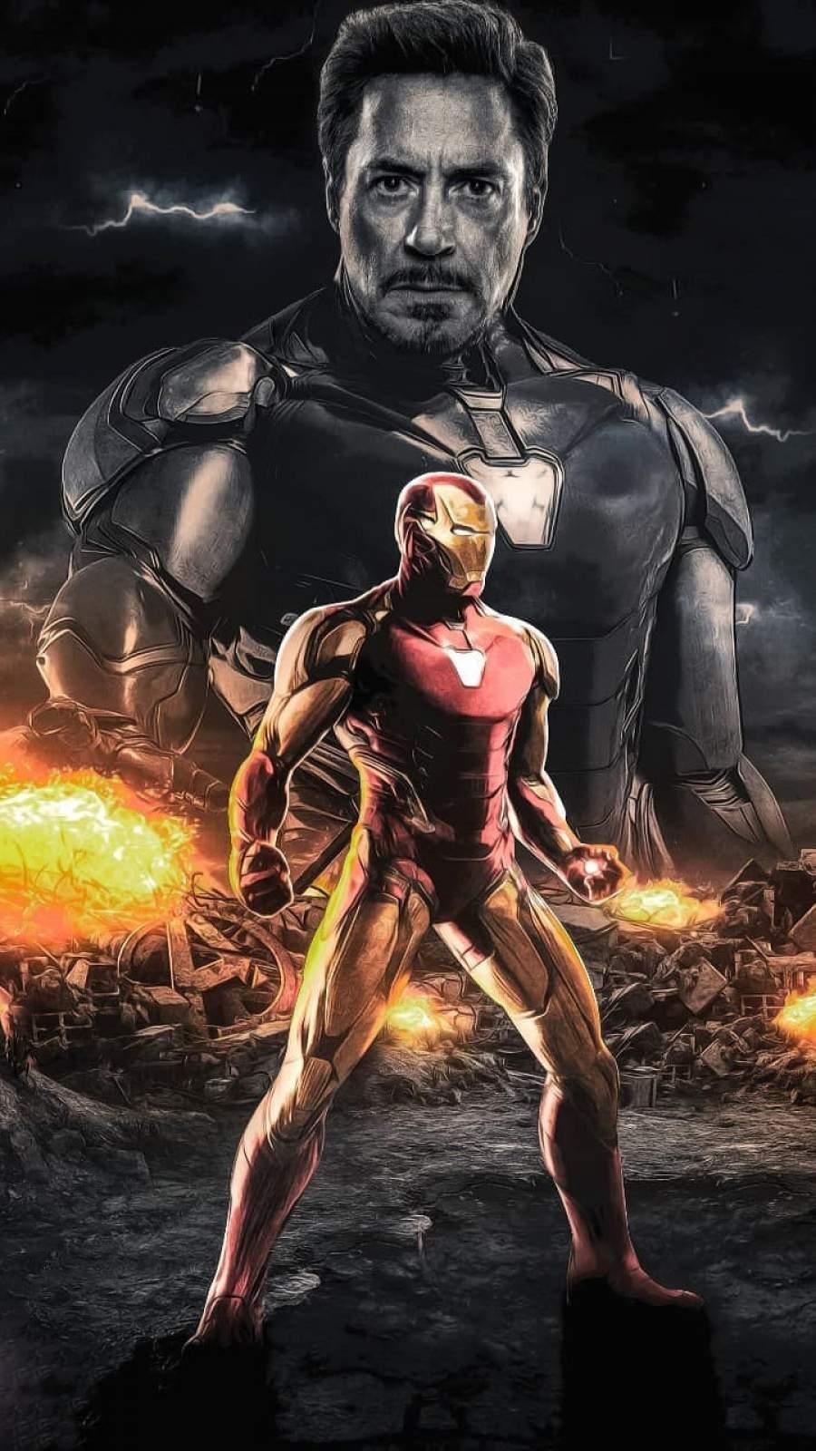 Iron Man Endgame Art iPhone Wallpaper