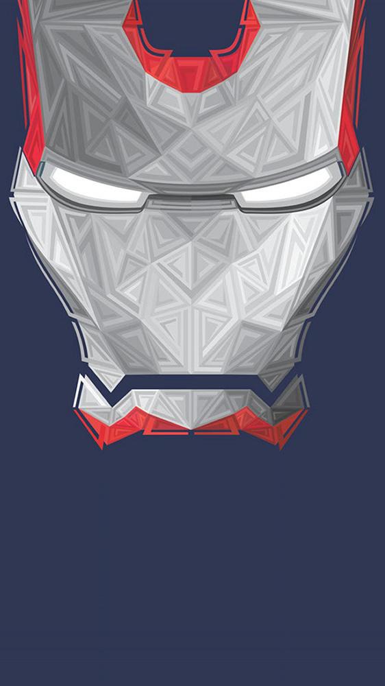 Iron Man Face Art iPhone Wallpaper