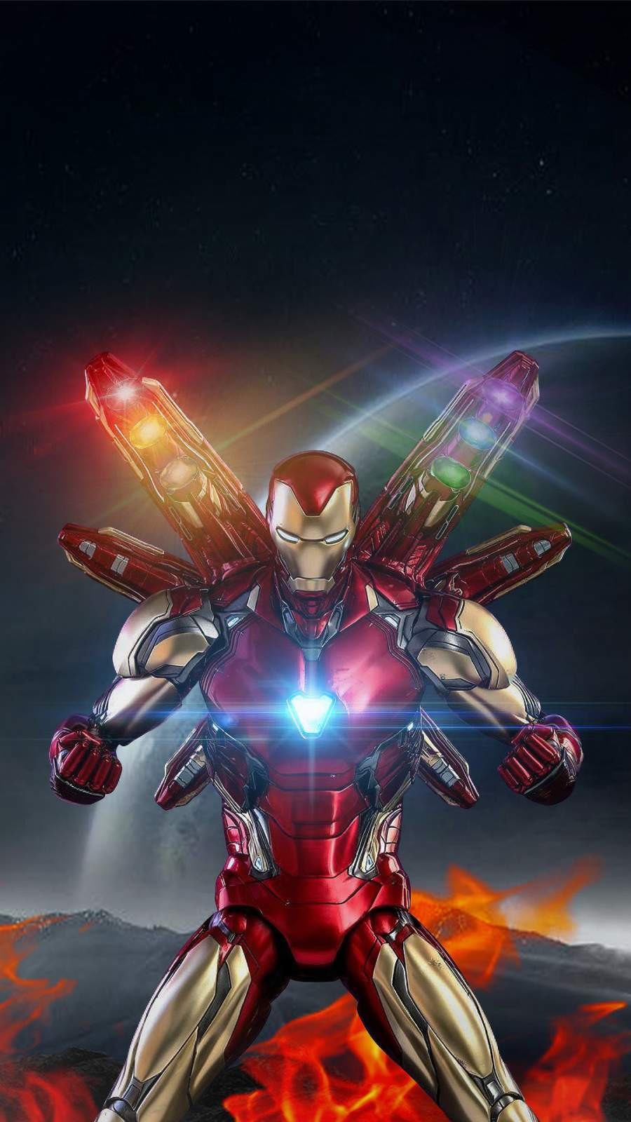 iron man infinity armor iphone wallpaper