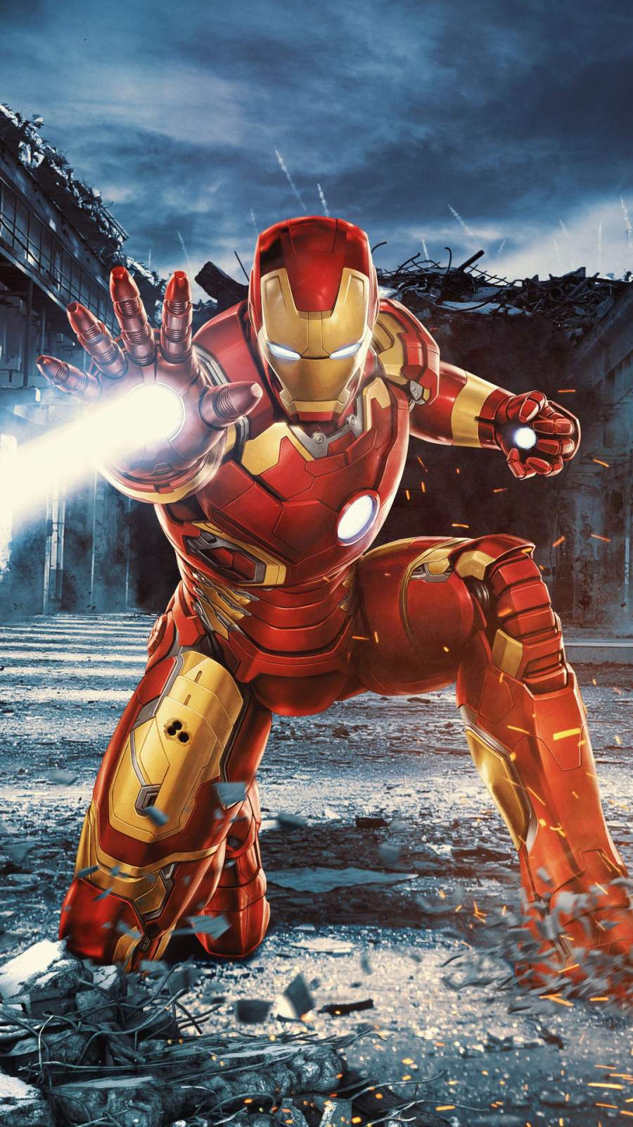 Iron Man Mark 45 iPhone Wallpaper