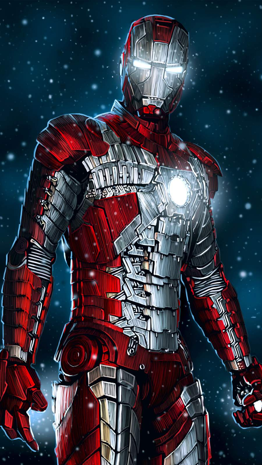 Iron Man Mark 5 Digital Art iPhone Wallpaper