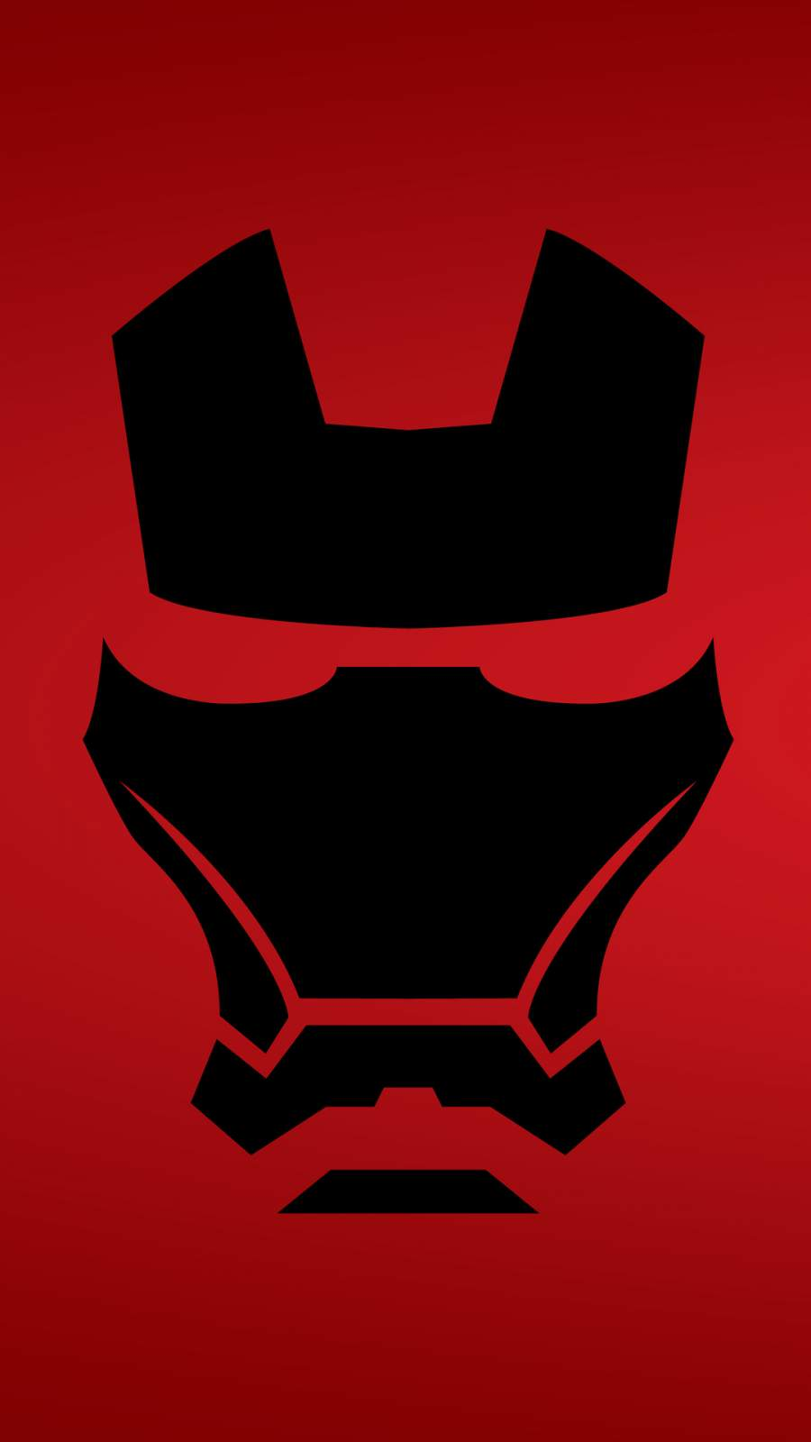 Iron Man Mask Minimalist iPhone Wallpaper
