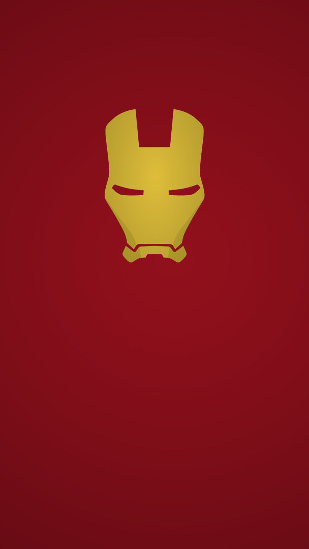 Iron Man Red Minimal iPhone Wallpaper