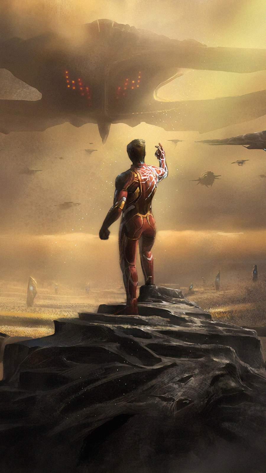 Iron Man vs Thanos Army iPhone Wallpaper