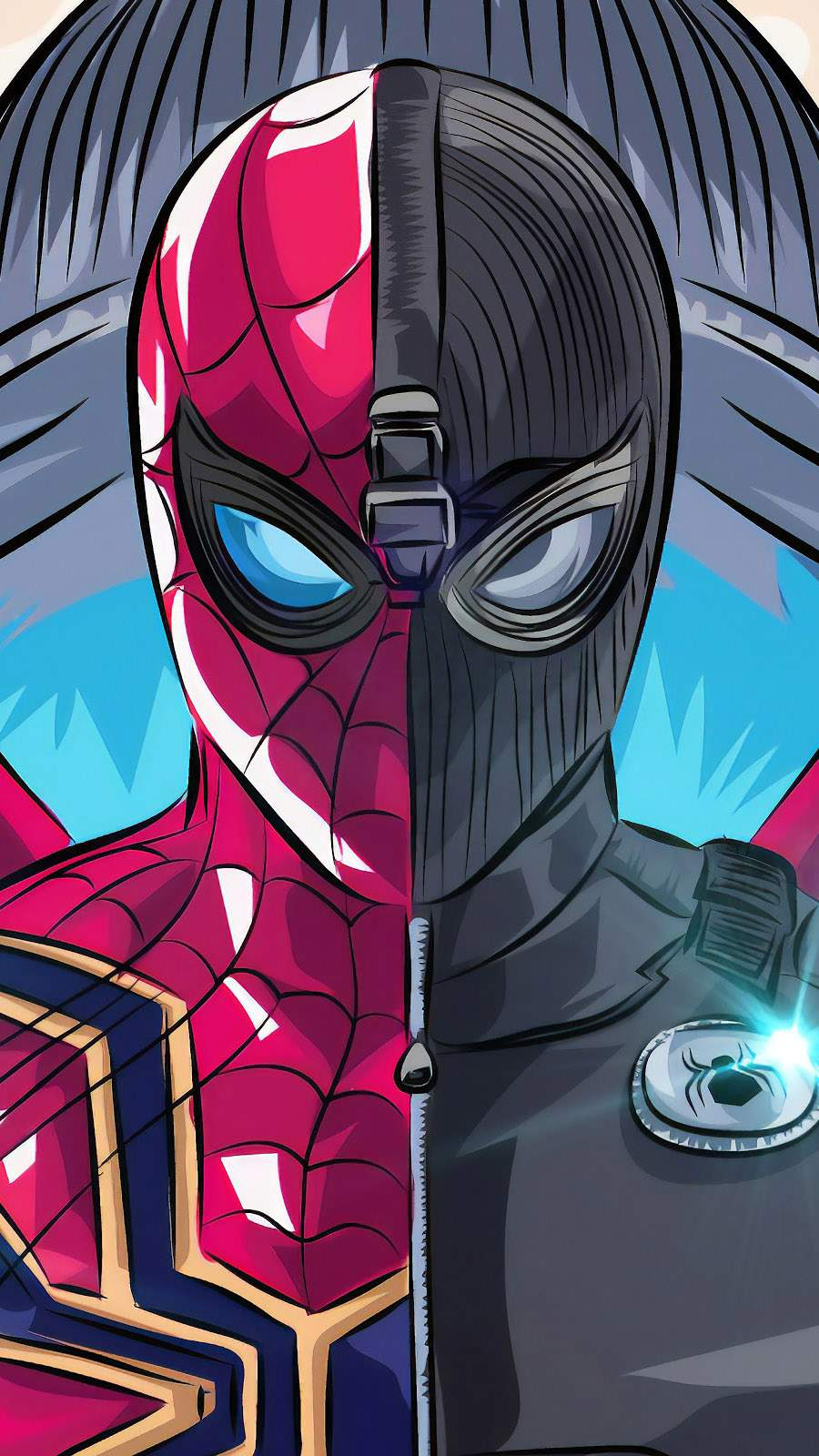 Iron Spider Stealth Suit iPhone Wallpaper