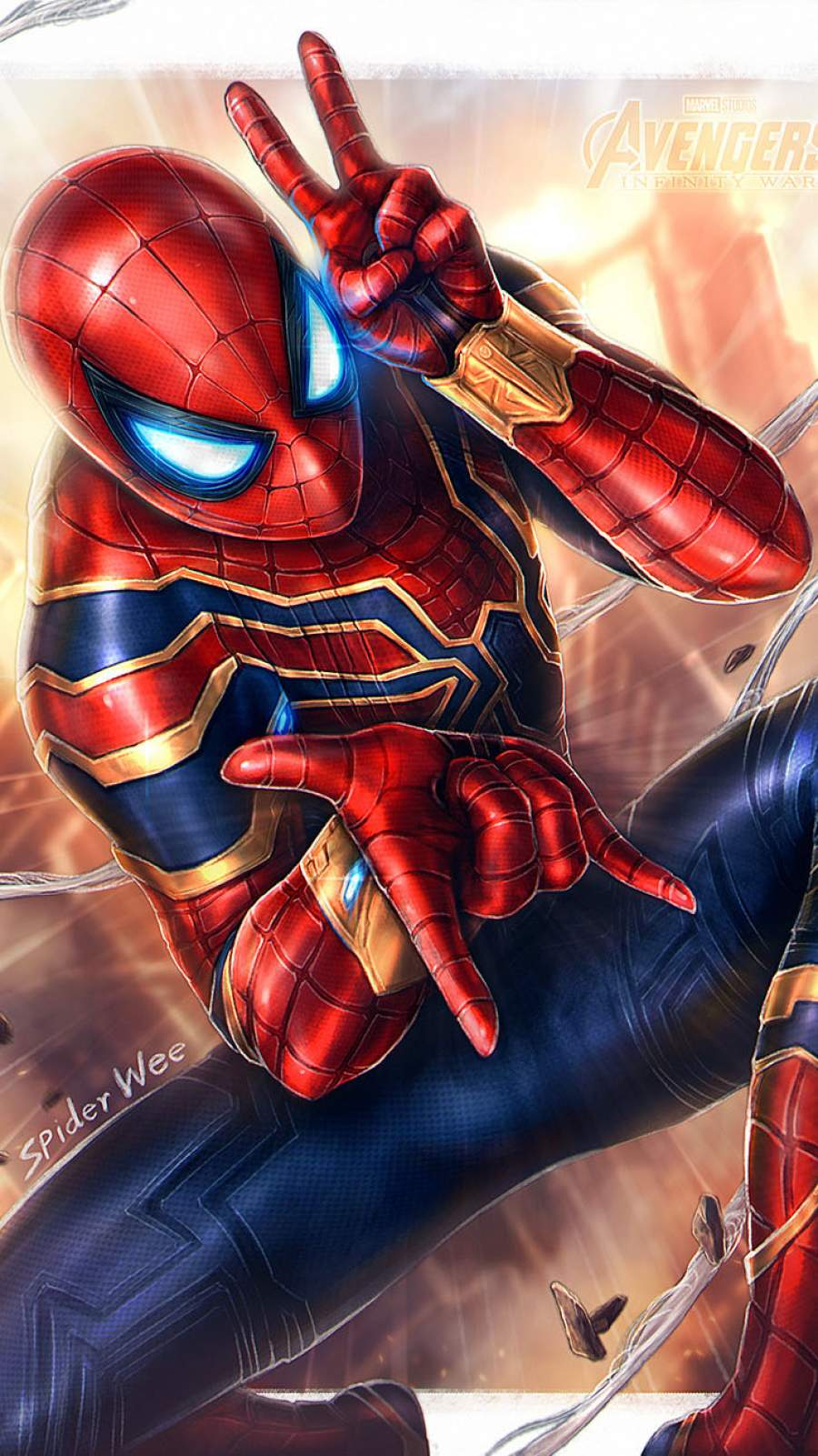 Iron Spider iPhone Wallpaper