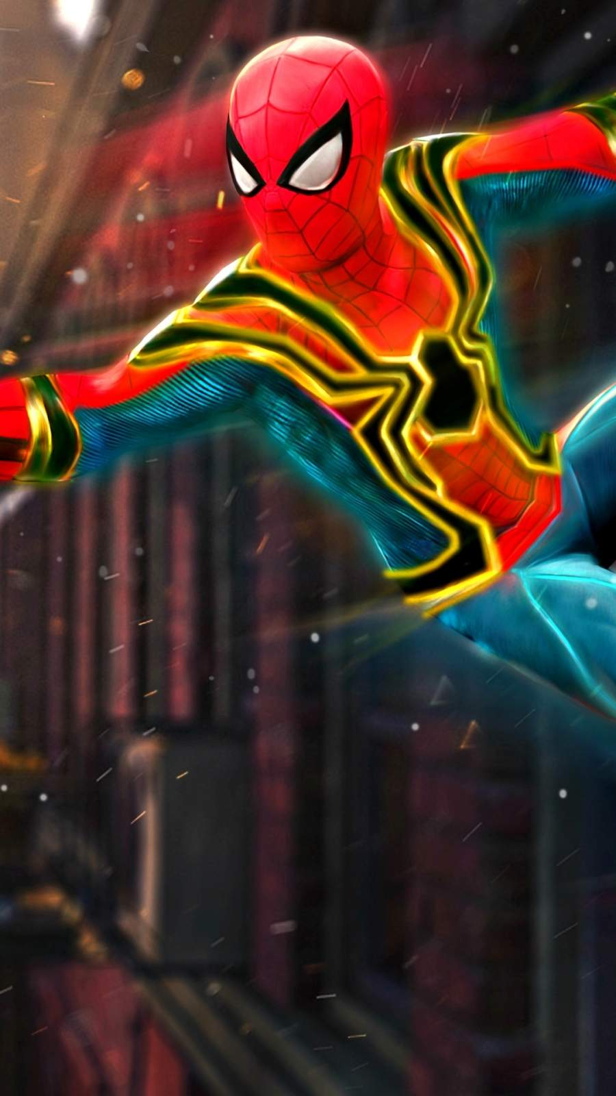 Iron Spiderman Art iPhone Wallpaper