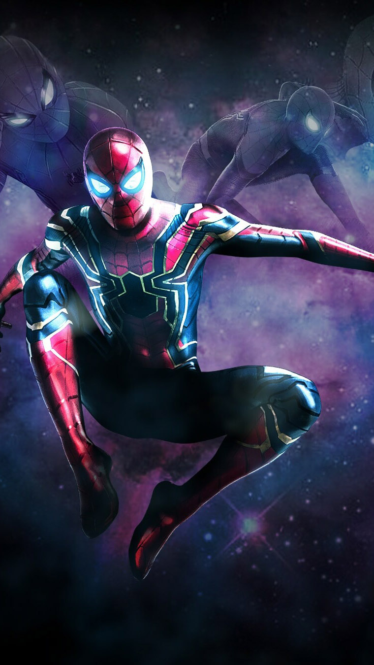 Iron Spiderman Suits iPhone Wallpaper