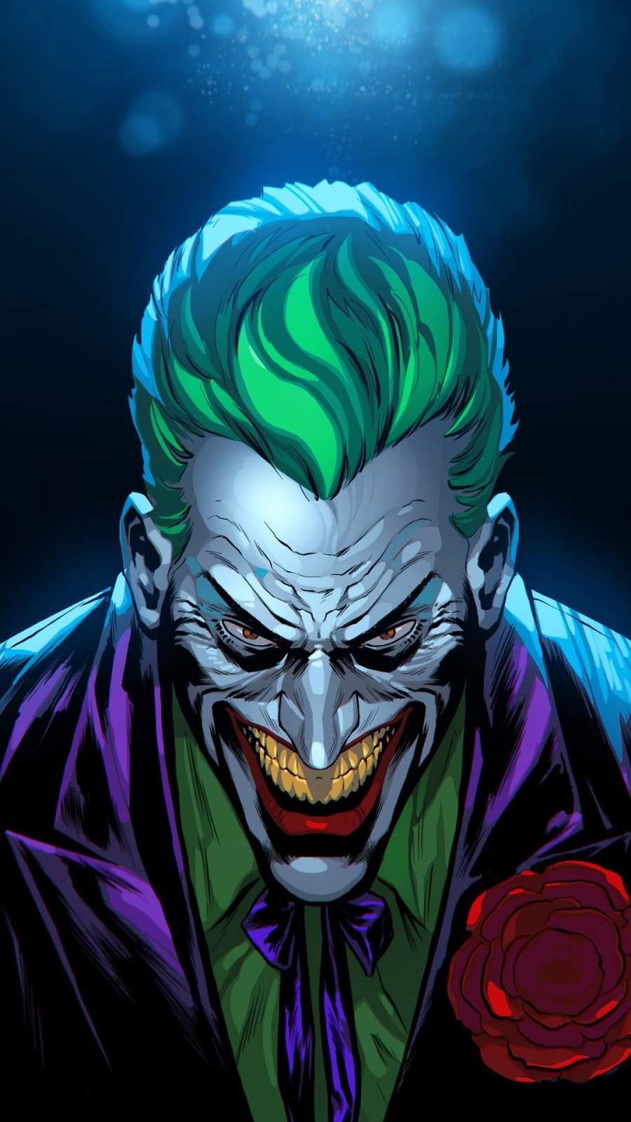 Joker Digital Art iPhone Wallpaper
