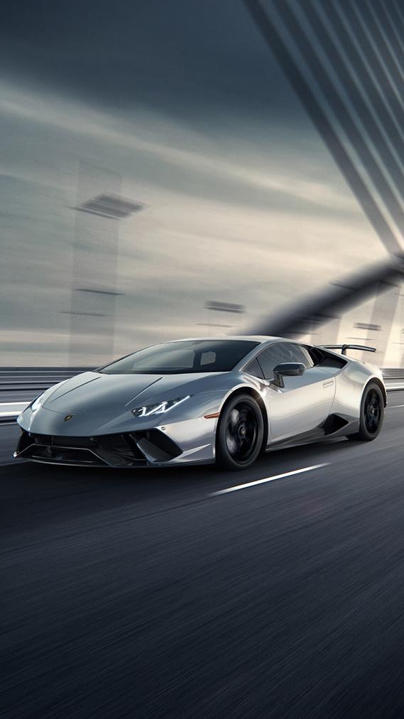 Lamborghini Aventador Freeway iPhone Wallpaper
