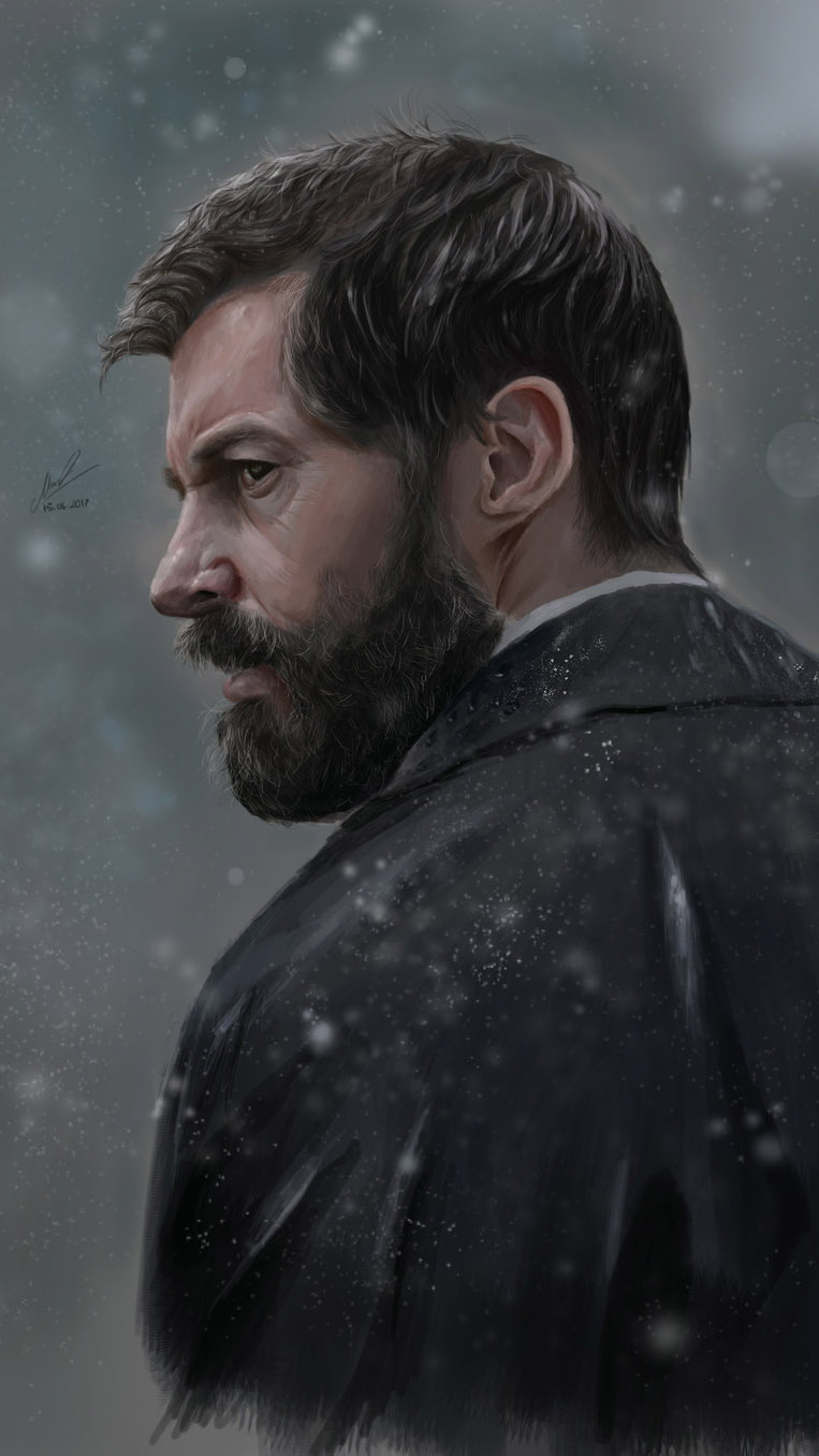 Logan in Rain iPhone Wallpaper
