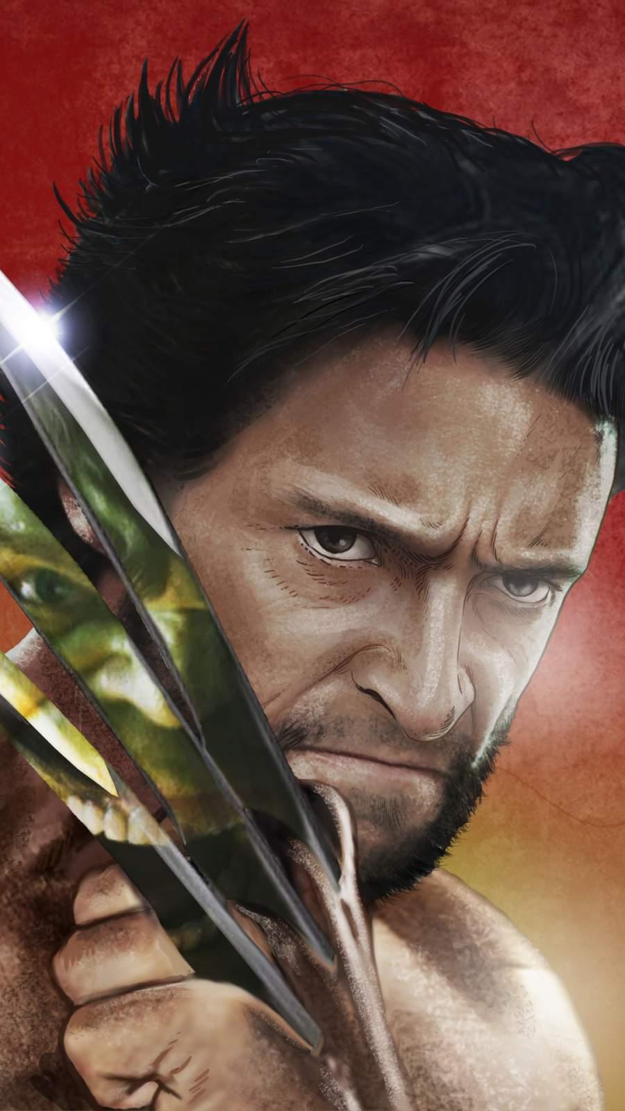 Logan vs Hulk iPhone Wallpaper
