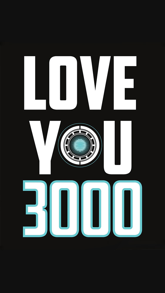 Love you 3000 iPhone Wallpaper