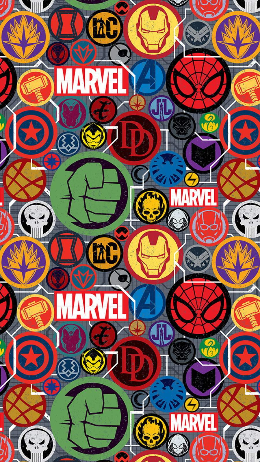 Marvel Superheroes Stickers iPhone Wallpaper