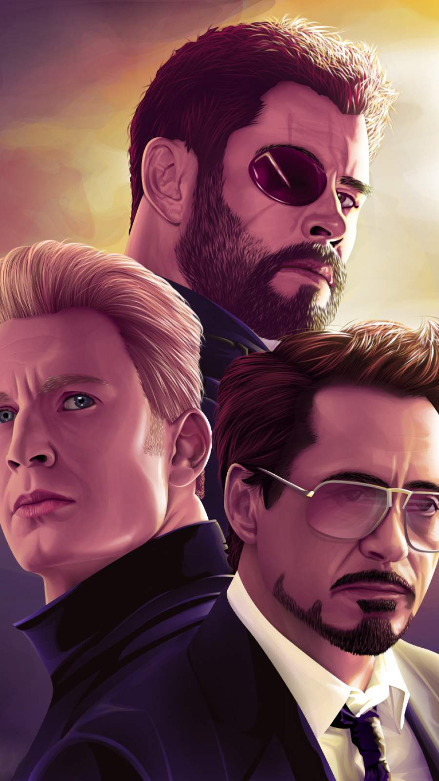 Marvel Top 3 Avengers iPhone Wallpaper