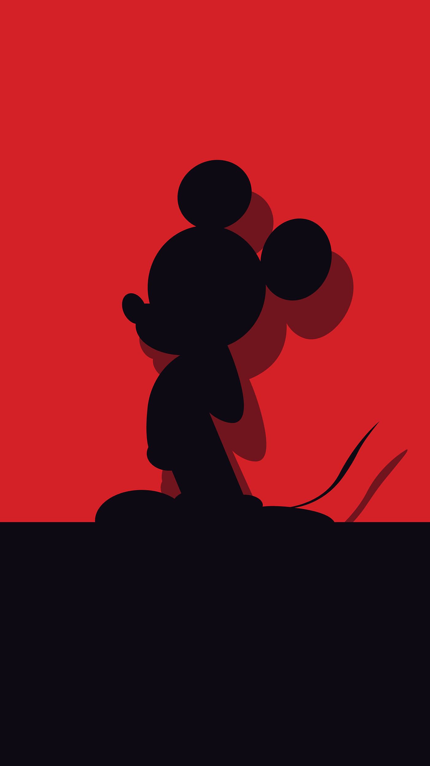 Mickey Mouse Minimal iPhone Wallpaper