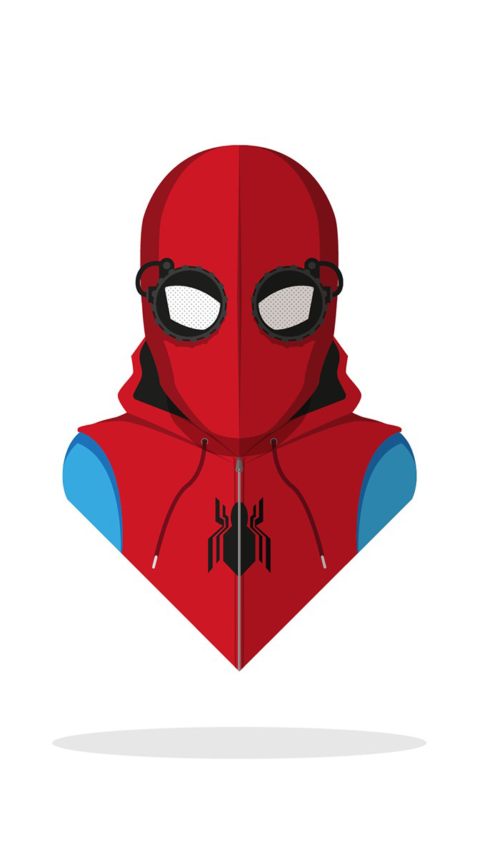 Miles Morales Spiderman Minimal iPhone Wallpaper