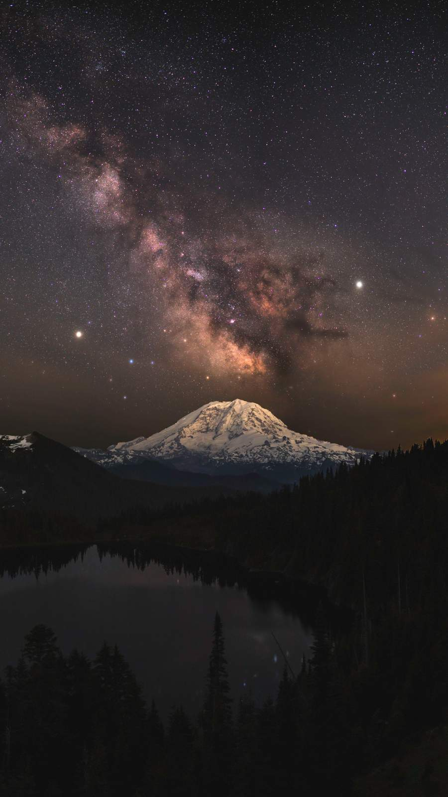 Milky Way Over Summit Lake iPhone Wallpaper