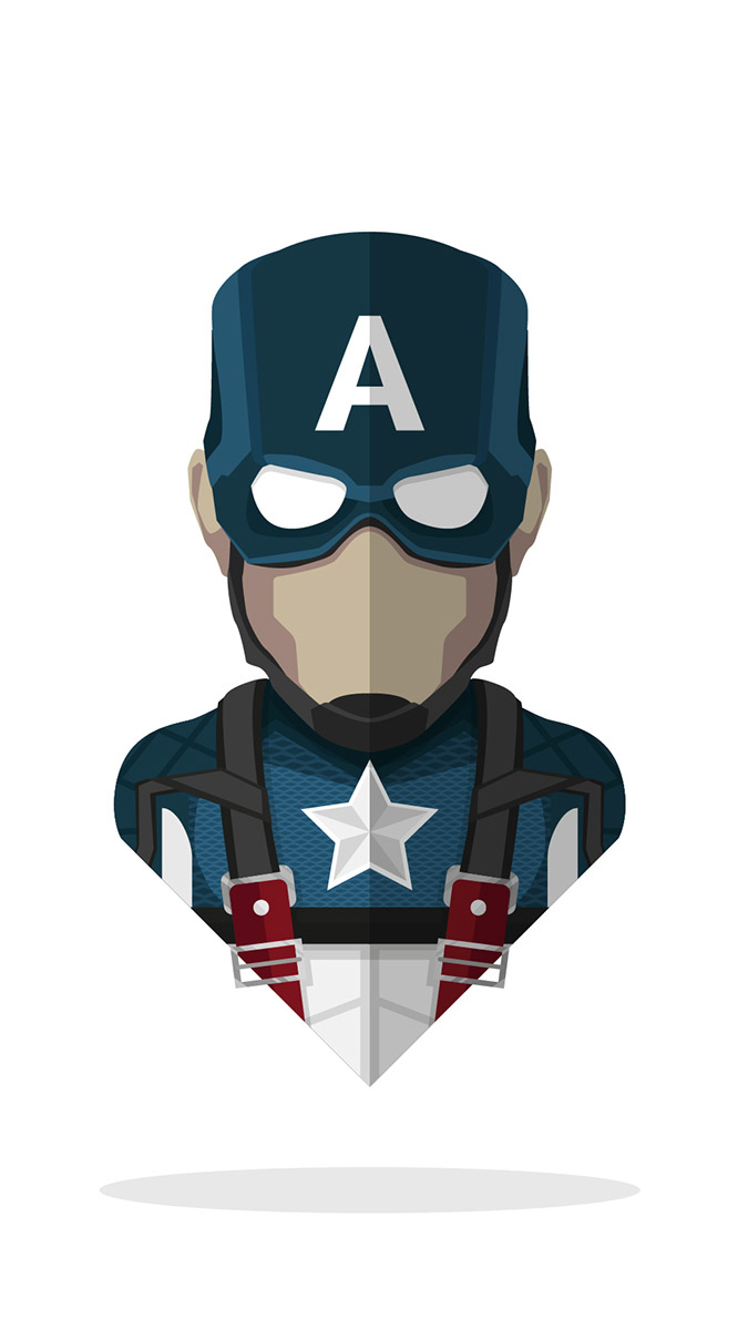 Minimal Captain America iPhone Wallpaper