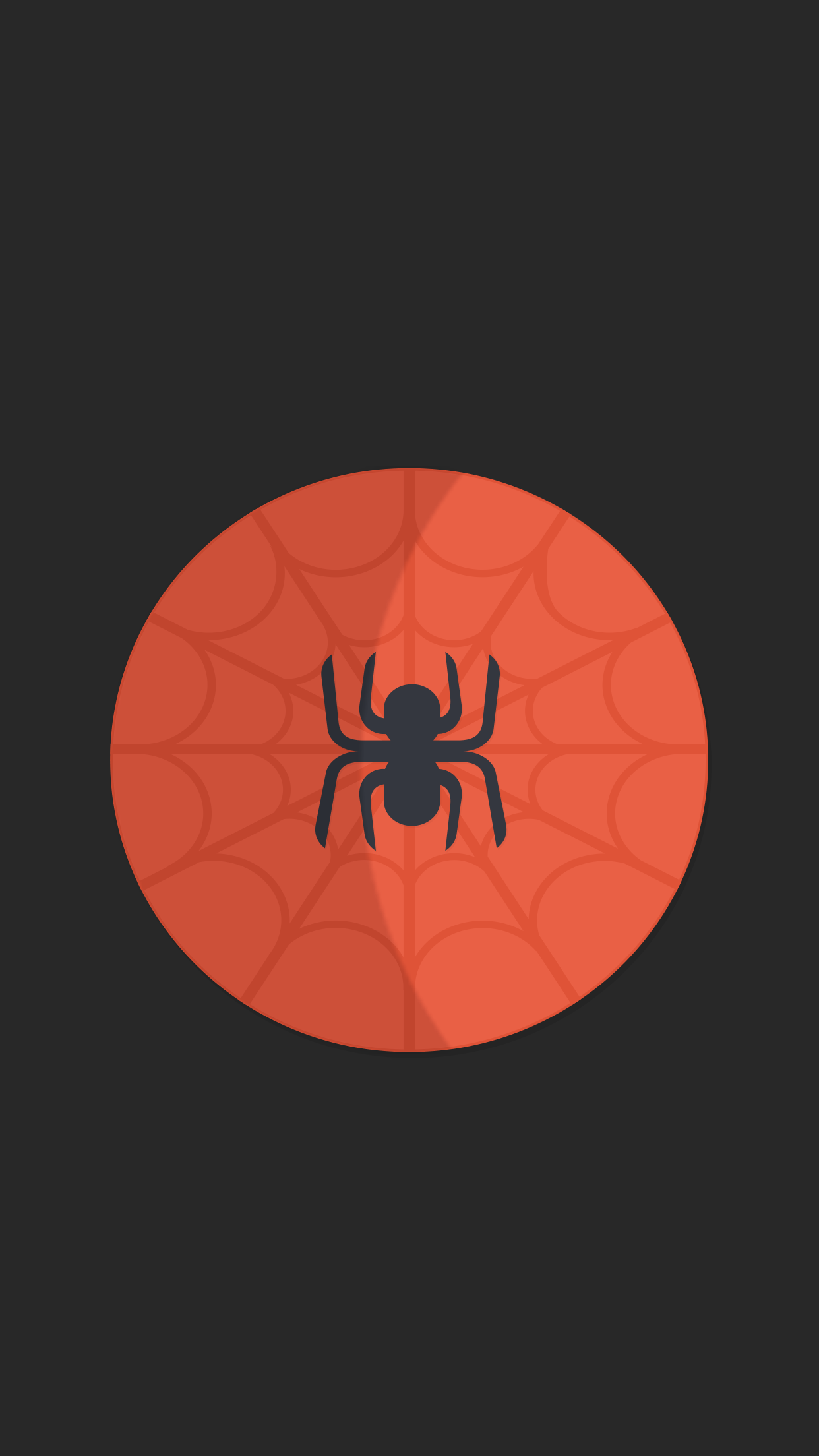 Minimal Spider iPhone Wallpaper