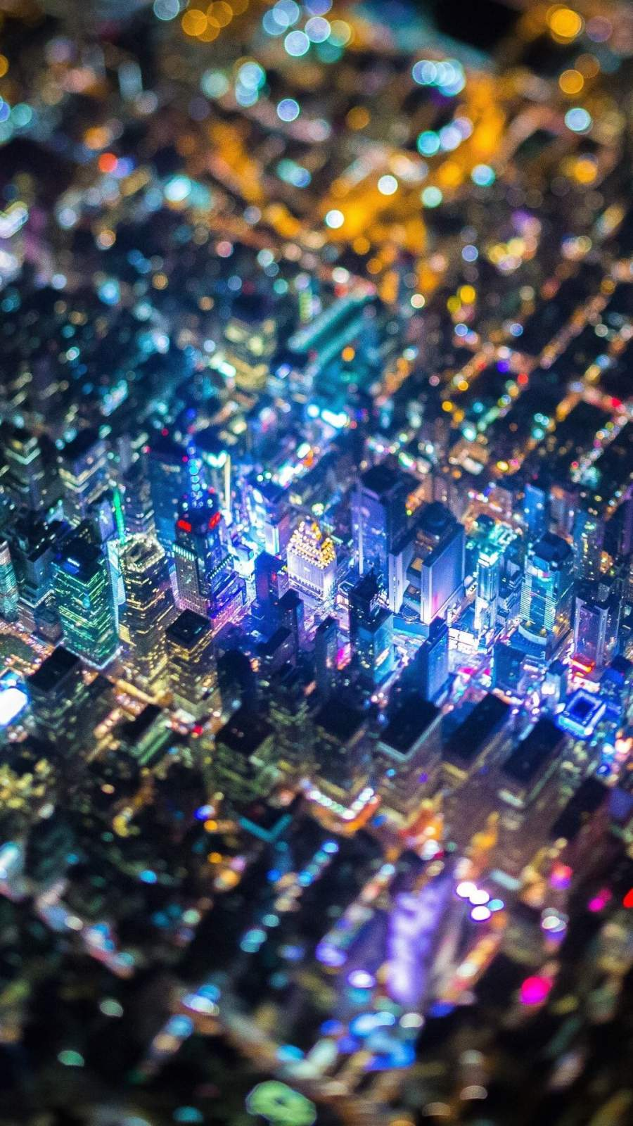 New York Tilt Shift iPhone Wallpaper