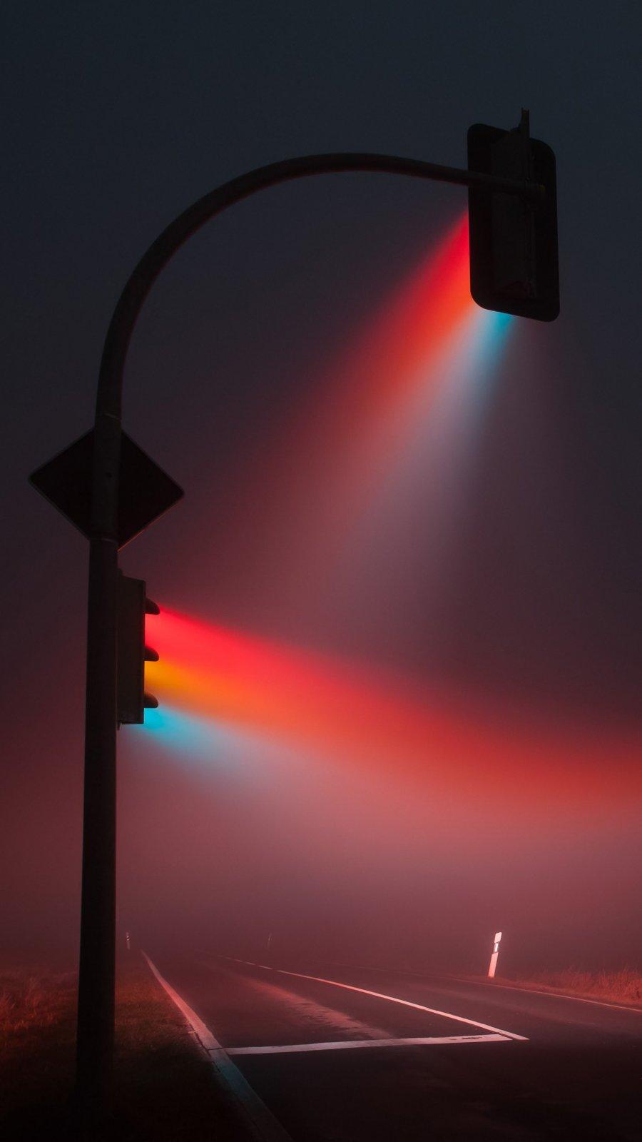 Night Signal Lights iPhone Wallpaper
