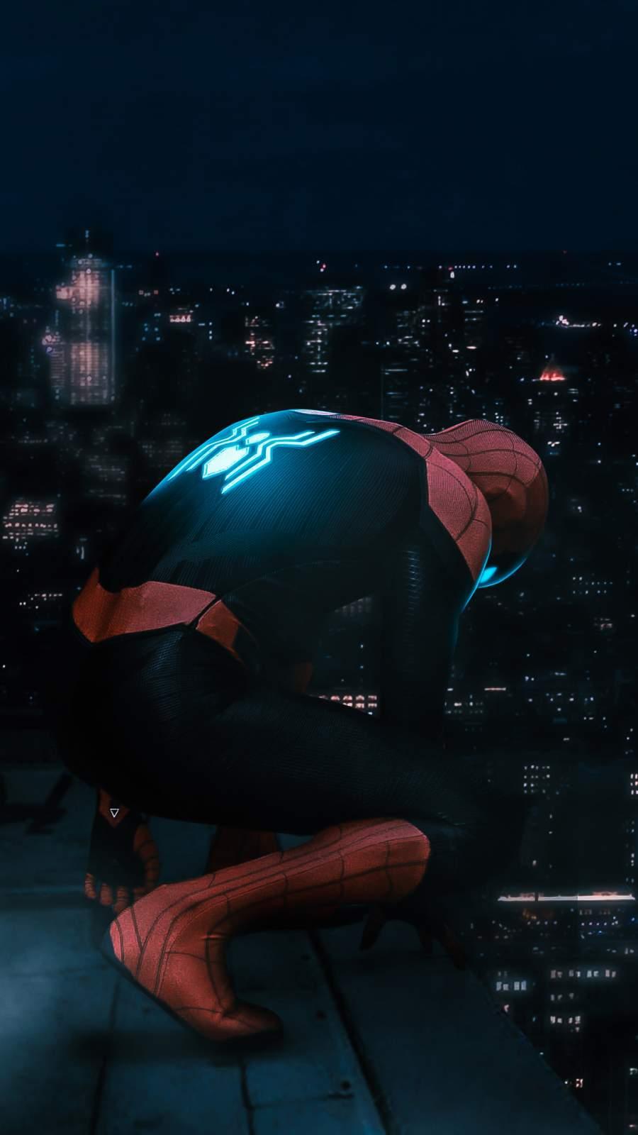 Night Spider Man iPhone Wallpaper