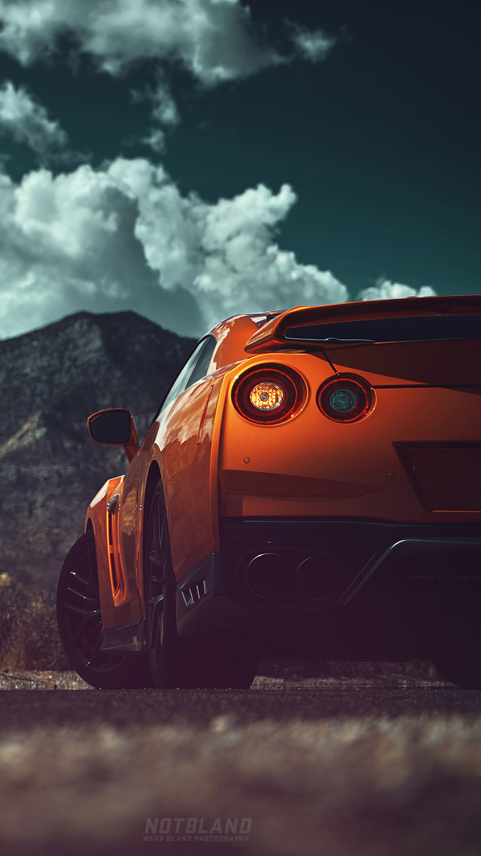 Nissan GTR Back iPhone Wallpaper