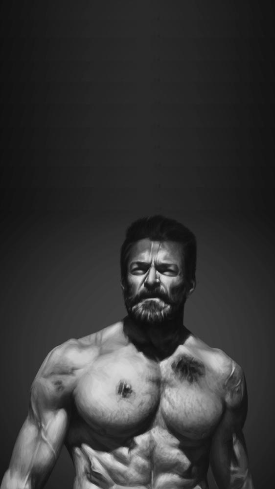 Old Wolverine Logan iPhone Wallpaper