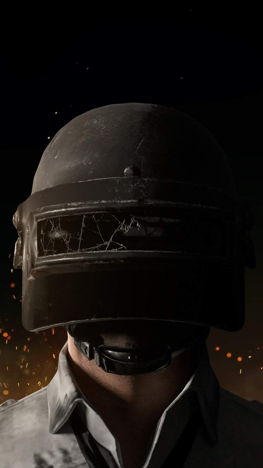 Pubg Helmet Guy iPhone Wallpaper