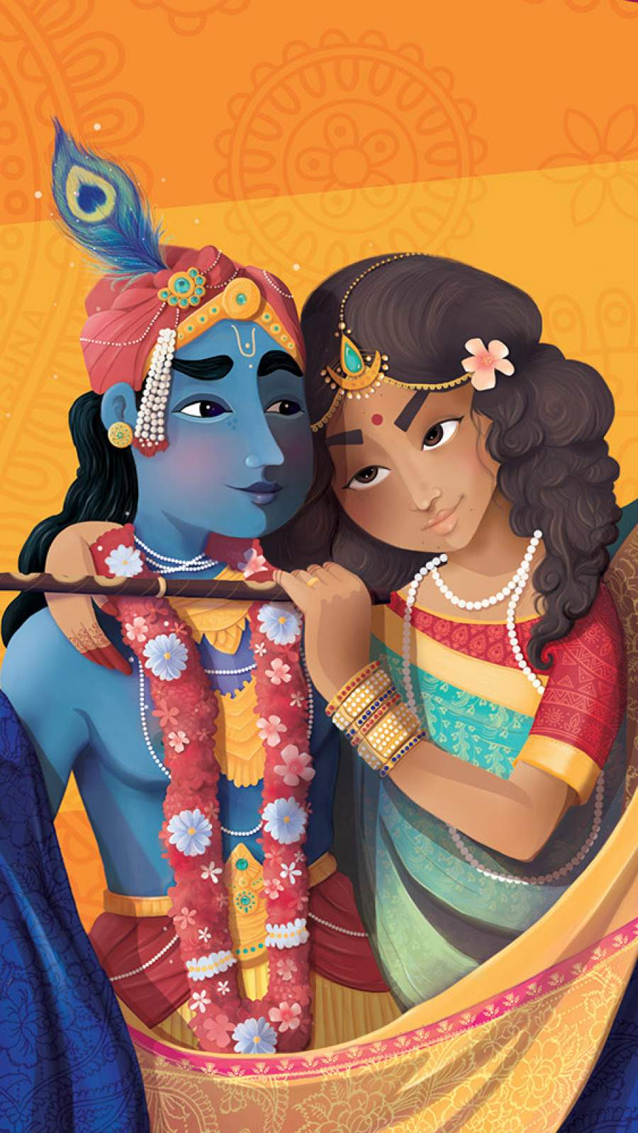 Radha Krishna iPhone Wallpaper