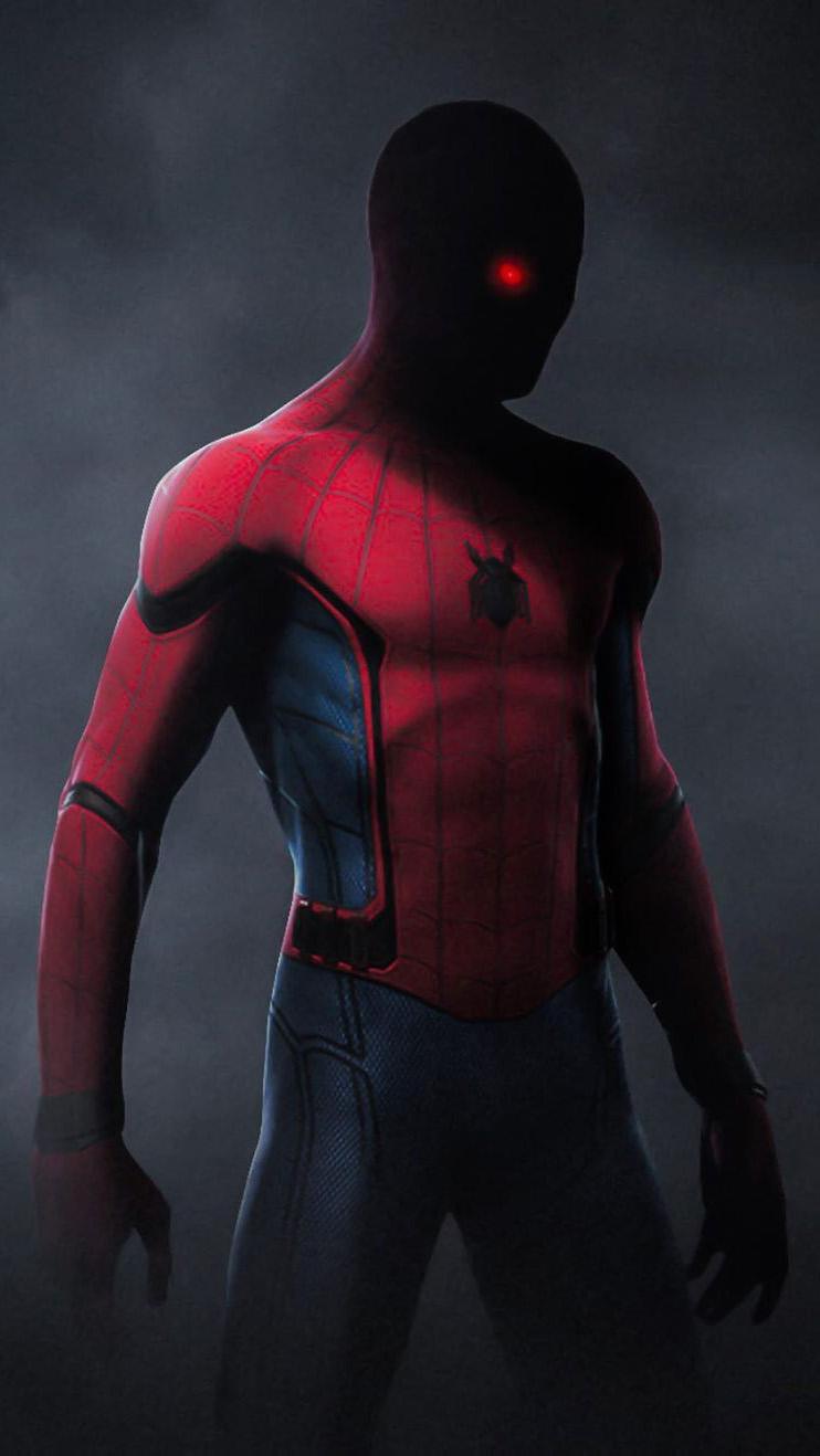 Red Eye Spiderman iPhone Wallpaper