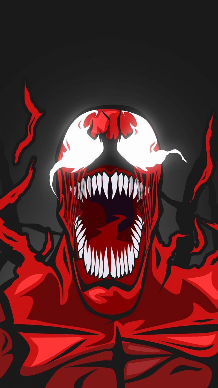 Red Venom iPhone Wallpaper