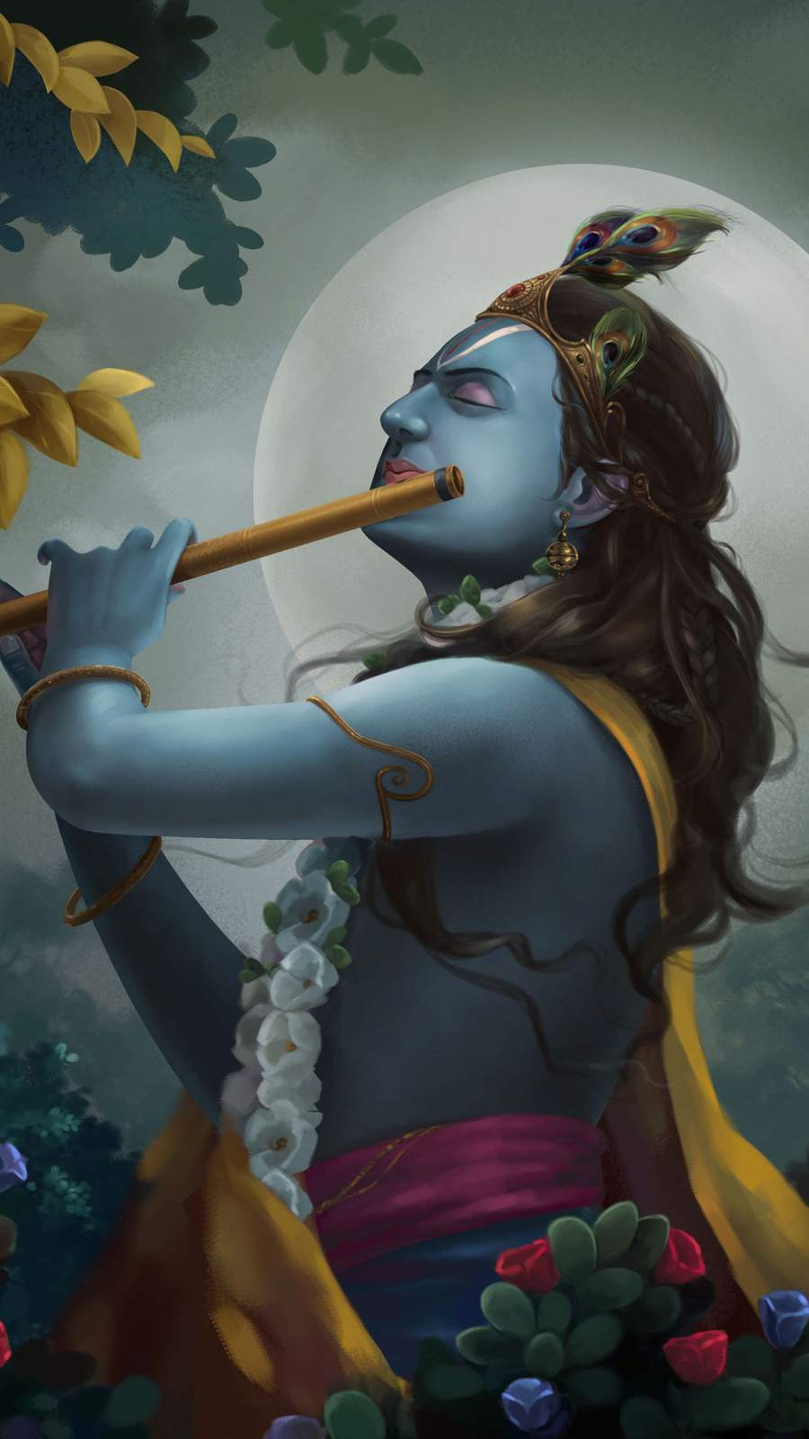 Shree Krishna iPhone Wallpaper