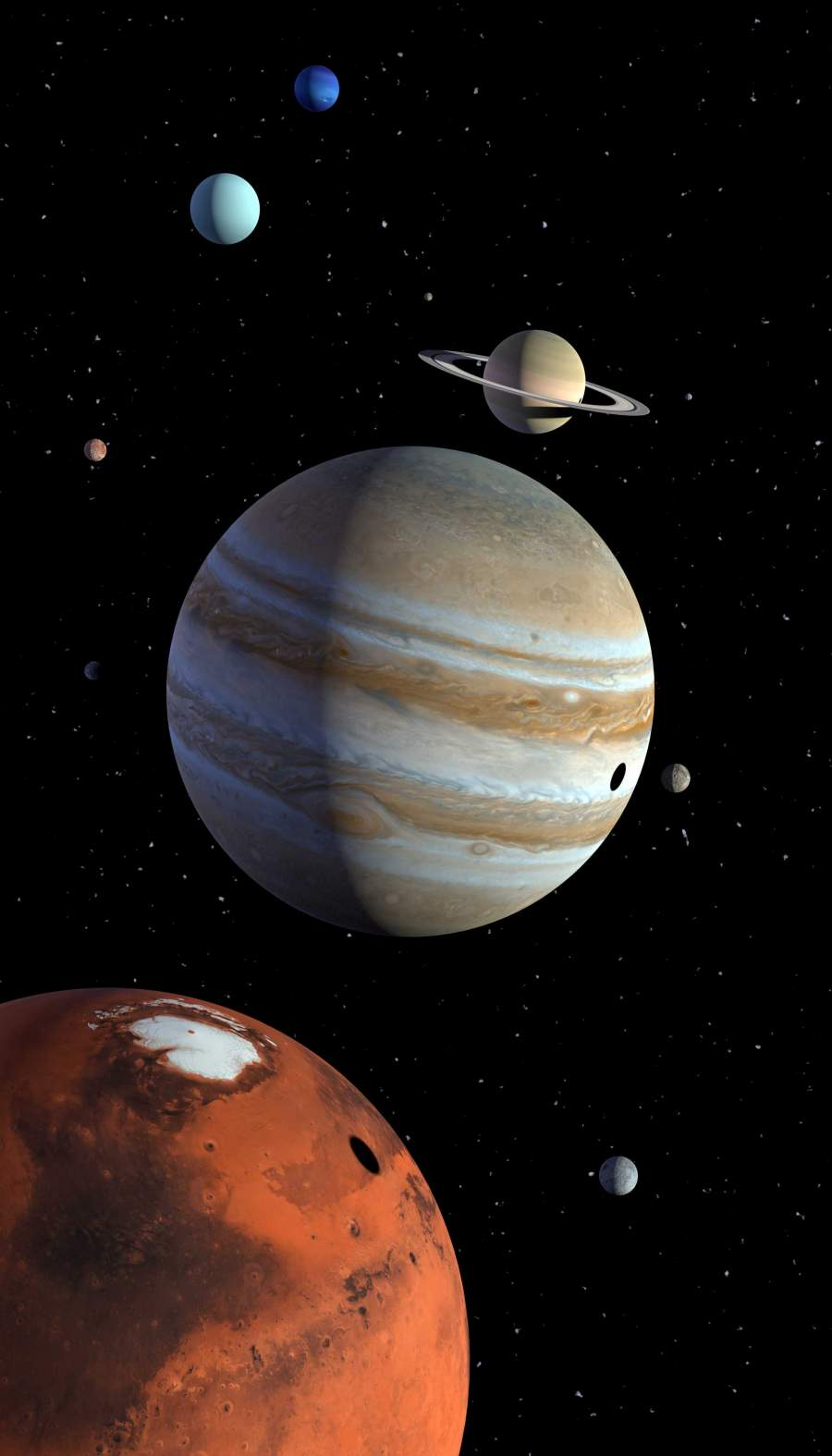Solar System Planets iPhone Wallpaper