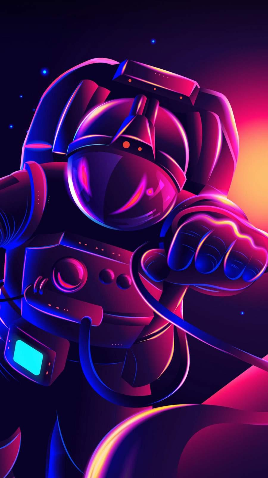 Space Explorer Art iPhone Wallpaper